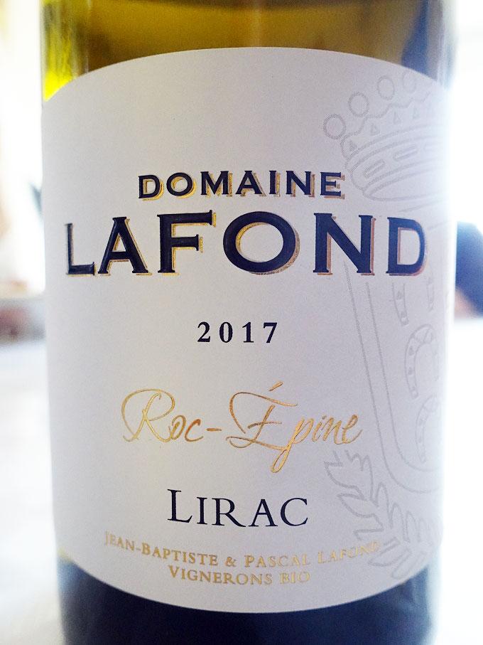 Domaine Lafond Roc-Épine Lirac Blanc 2017 (88+ pts)