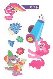 My Little Pony Tattoo Card 10 Series 3 Trading Card
