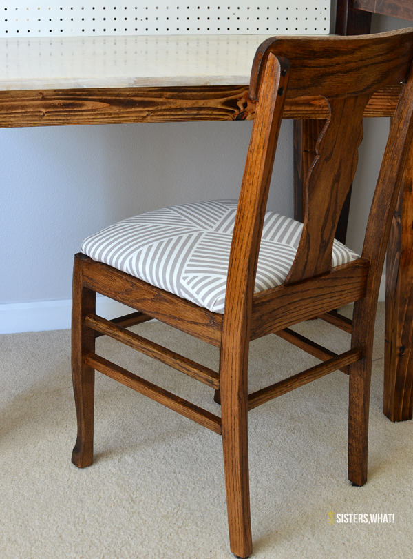 refurbished chair with new fabric! looks so easy!