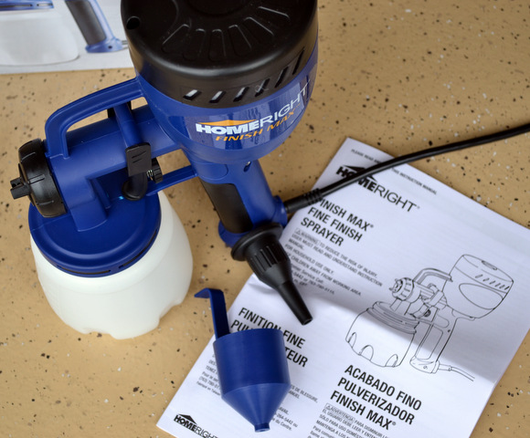 This paint sprayer only comes with a few pieces to put together - super easy to use!