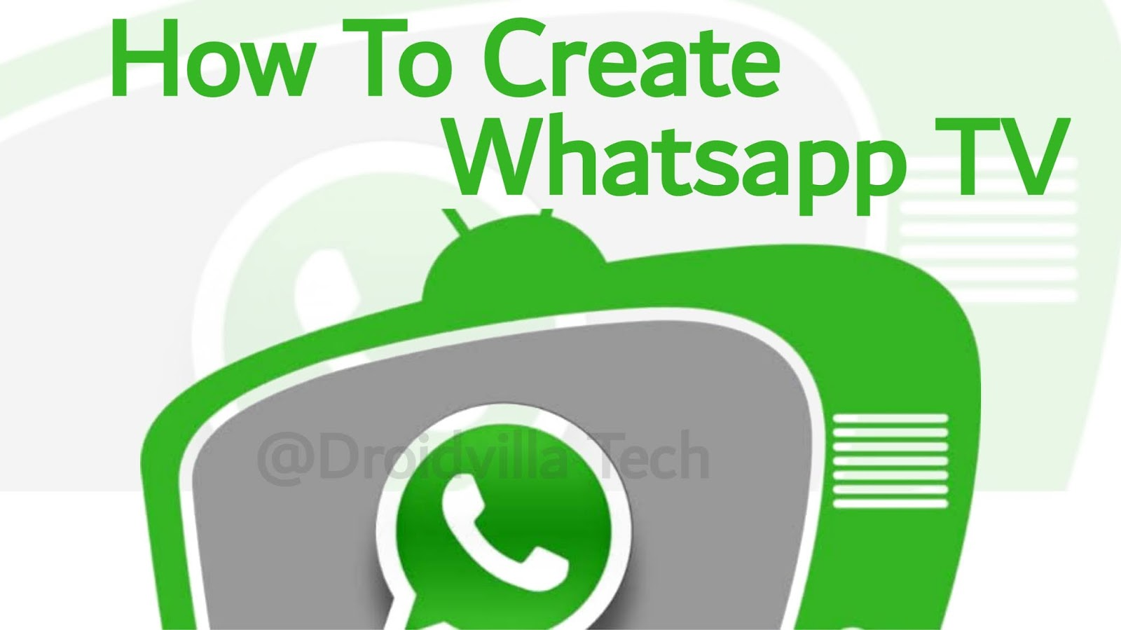 Create Whatsapp TV