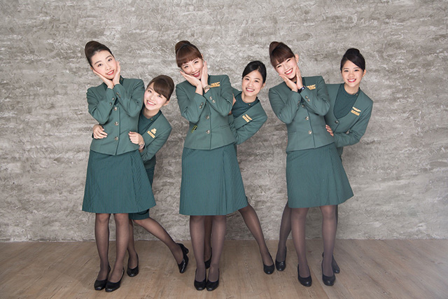 長榮空姐空服員制服紀念團拍