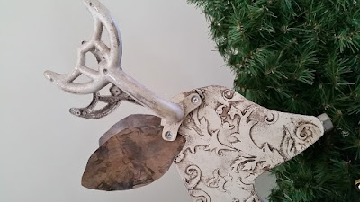recycled reindeer art