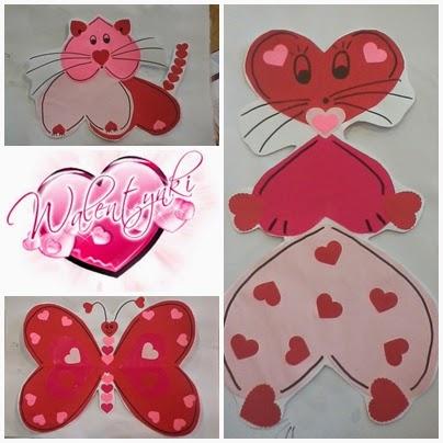 Boberkowy World Serduszkowe Zwierzaki Praca Plastyczna Na Walentynki
