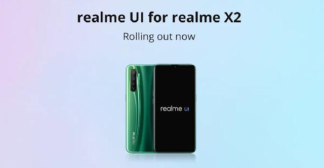 Realme X2 के लिए जारी हुआ Android 10 पर आधारित Realme UI अपडेट