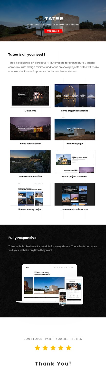 Architecture and Building Business WordPress Theme Review - Tatee