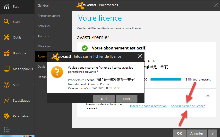 avast internet security license file 2018 free