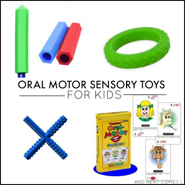 Oral motor sensory tools and toys