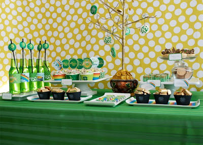 St. Patrick's Day Party Dessert Buffet