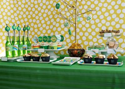 St. Patrick's Day Party Dessert Buffet