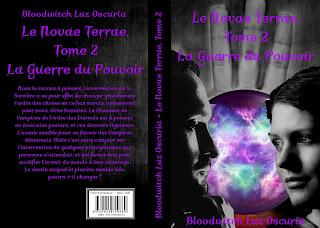 """Couverture de """"Le Novae Terrae, tome 2 : La Guerre du Pouvoir"""", de Bloodwitch Luz Oscuria"""