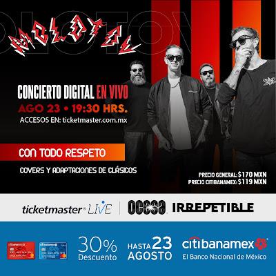 """OCESA presenta """"Irrepetible"""" conciertos digitales en vivo sin salir de casa"""