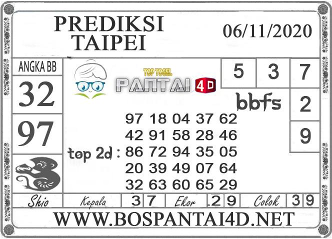 PREDIKSI TOGEL TAIPEI PANTAI4D 06 NOVEMBER 2020