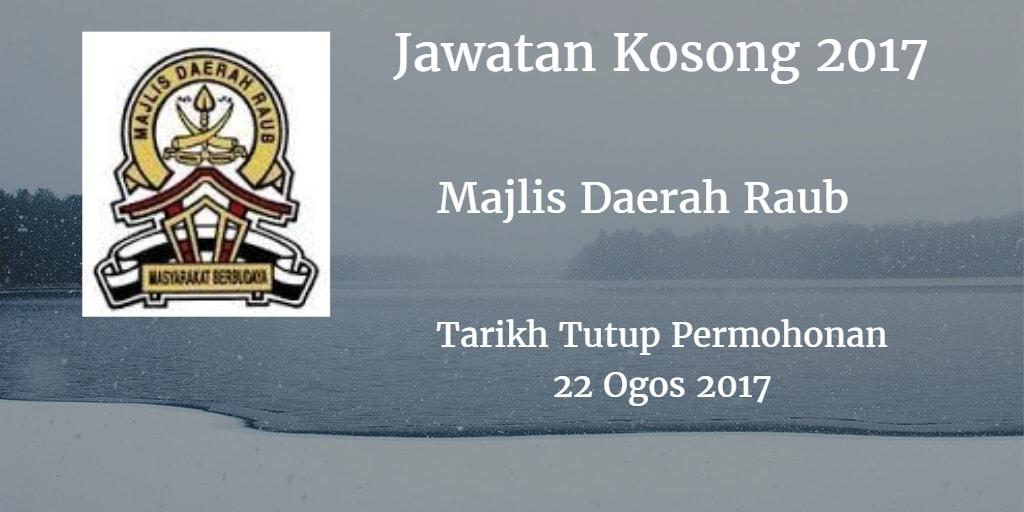 Jawatan Kosong MdRaub 22 Ogos 2017