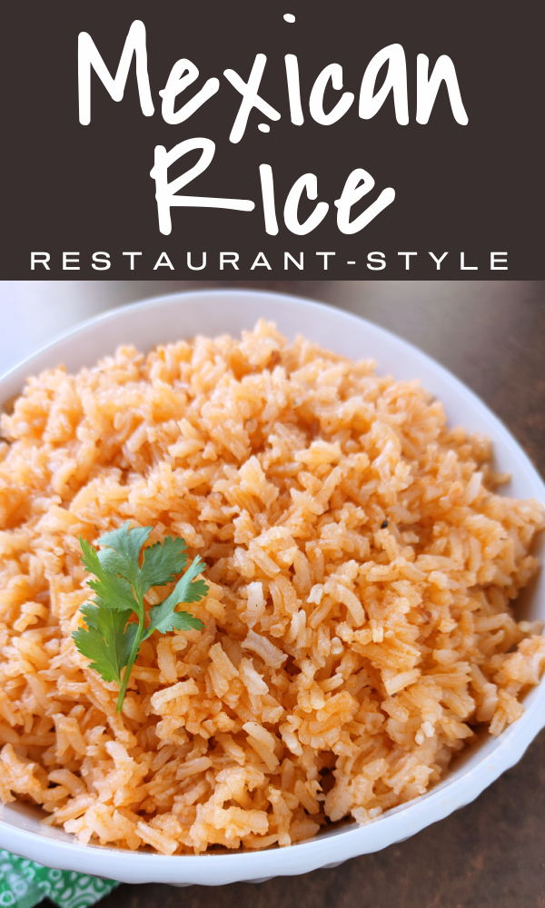 Mexican Restaurant-Style Rice! A simple recipe with just a few ingredients just like the rice at our favorite Mexican restaurant and a perfect side dish to serve at home with your favorite Mexican recipes!