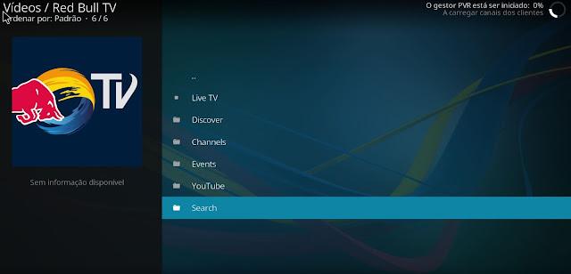 Tutorial - Como instalar o add-on Red Bull TV no Kodi