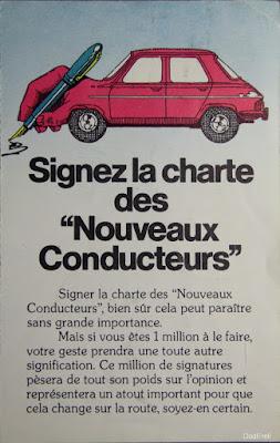 Plaquette charte des nouveaux conducteurs, Shell 1977