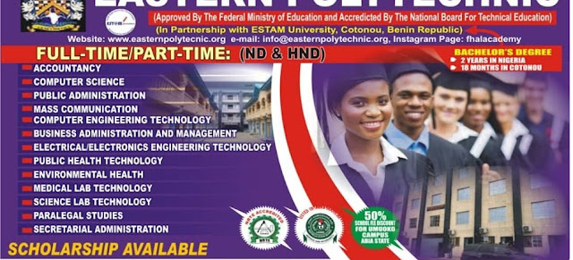 Eastern Poly HND Admission Form 2020/2021 | Full & Part-Time