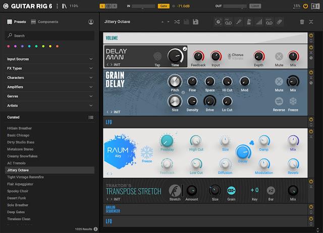 Interface do plugin Guitar Rig 6 PRO v6.1.1 - Native Instruments