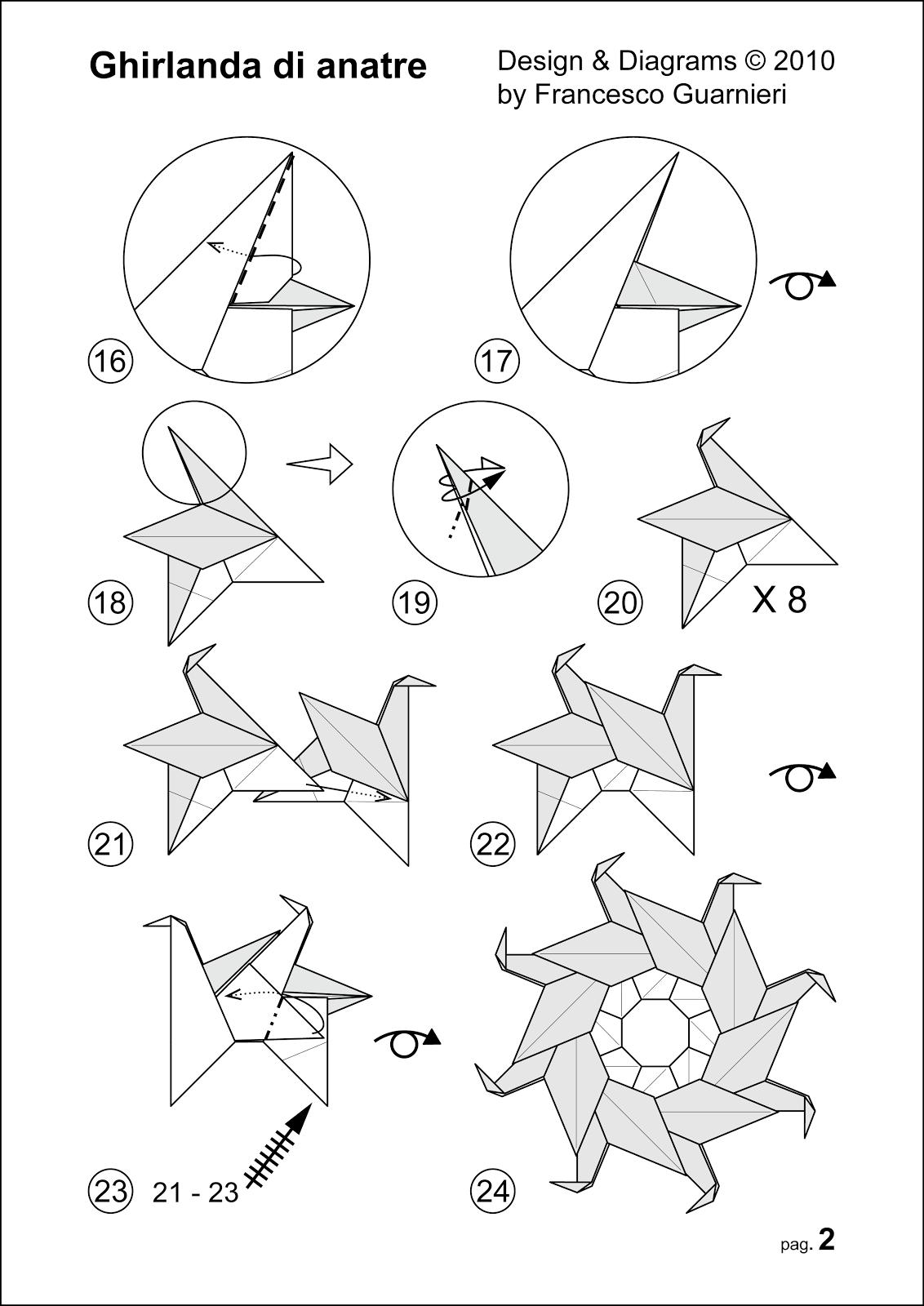 Origami Poesie Di Carta Ghirlanda Di Anatre