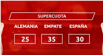 Mondobets supercuota Alemania vs España 3-9-2020