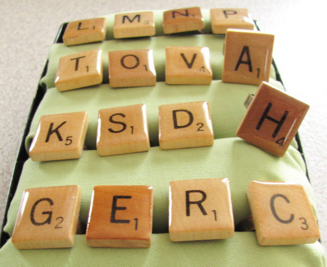 scrabble tile rings by tamdoll