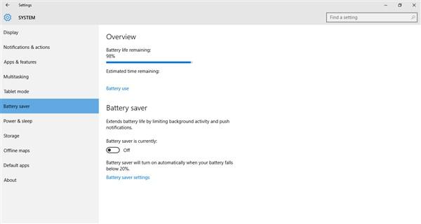 windows 10 battery laptop