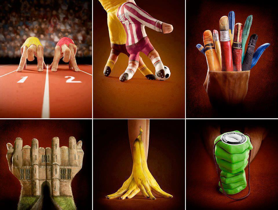 Outoppies Cool Stuff: Amazing Finger-art