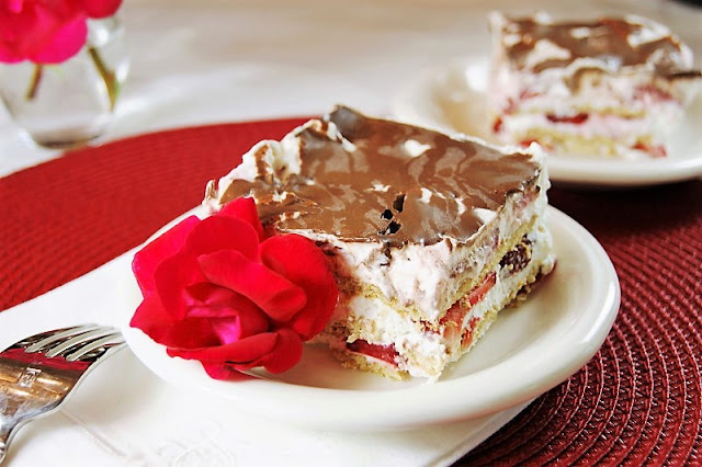 No-Bake Strawberry Ice Box Cake Image