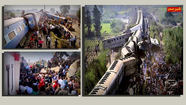بالفيديو حادث قطار الصعيد اليوم 26-3-2021
