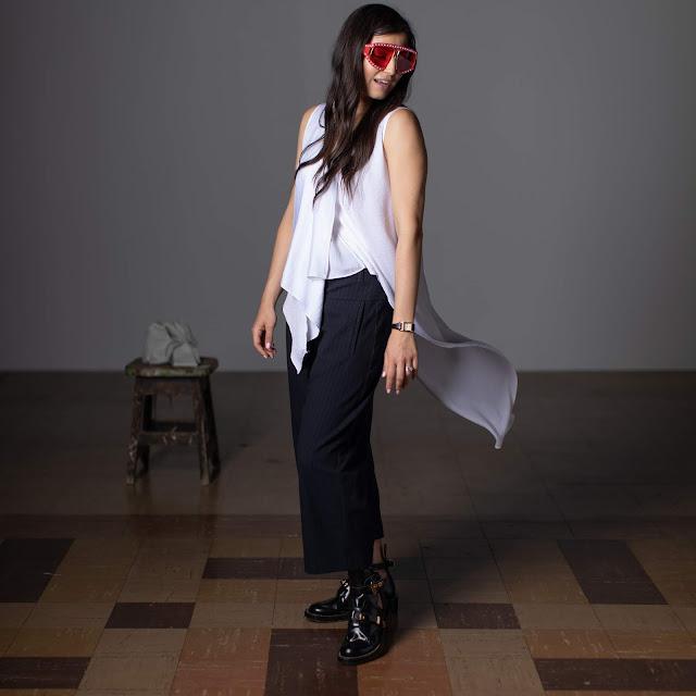 Meryl Franzos, pearl studded sunglasses