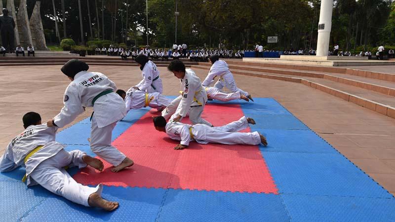 Jujitsu Bakamla RI Pukau Puluhan Awak Media