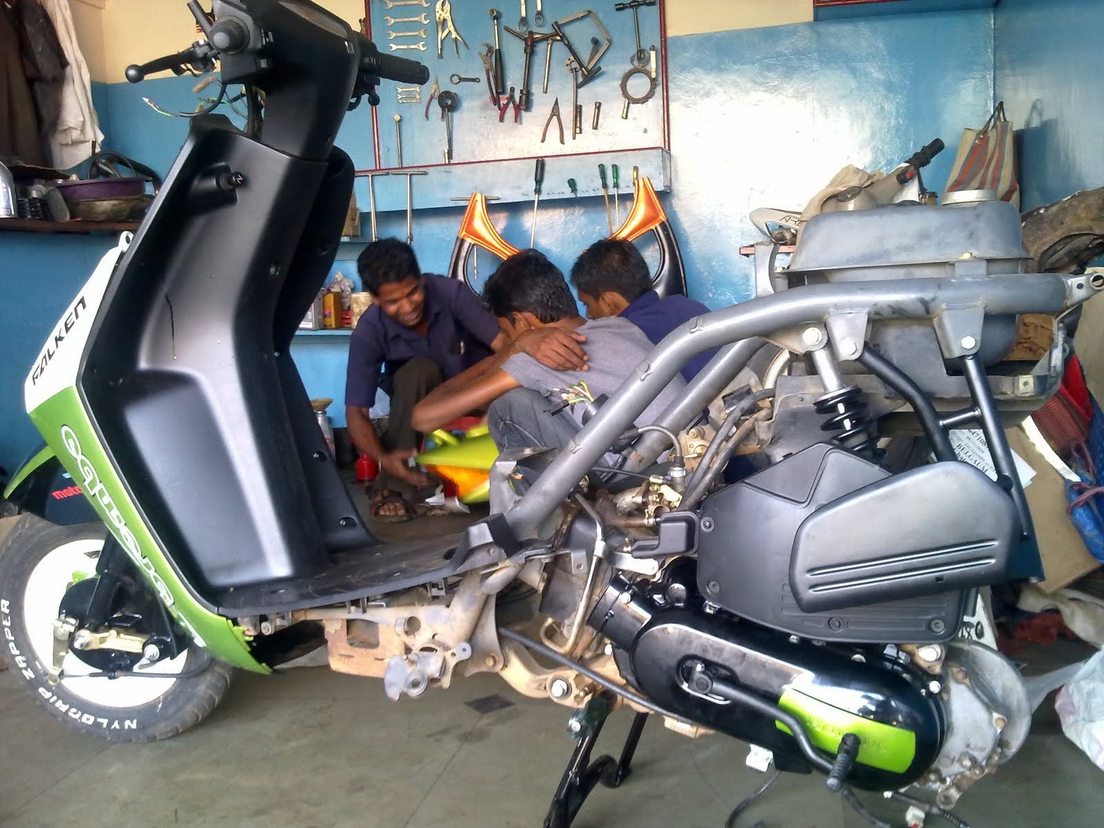 Indian bikes modified honda dio