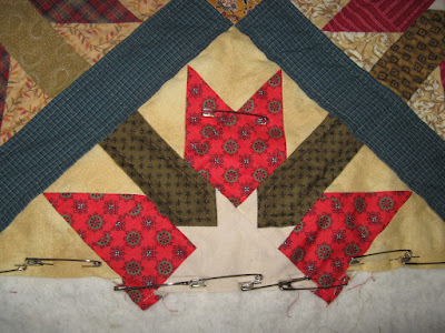 pieced side-setting triangle