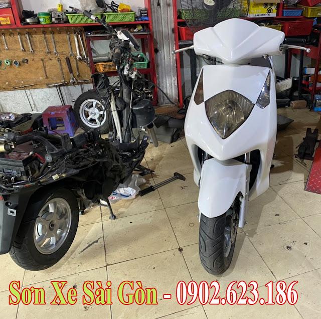 Mẫu Xe Honda Dylan màu trắng pha lê cực đẹp