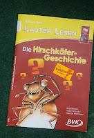 Das Cover zeigt einen gezeichneten Hirschkäfer mit Fragezeichen über dem Kopf