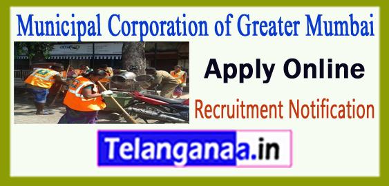 MCGM Municipal Corporation of Greater Mumbai Recruitment Notification 2017 Apply