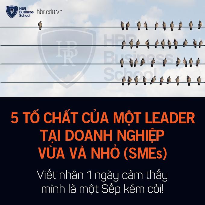 5 tố chất của một leader tại doanh nghiệp vừa và nhỏ (SMEs)