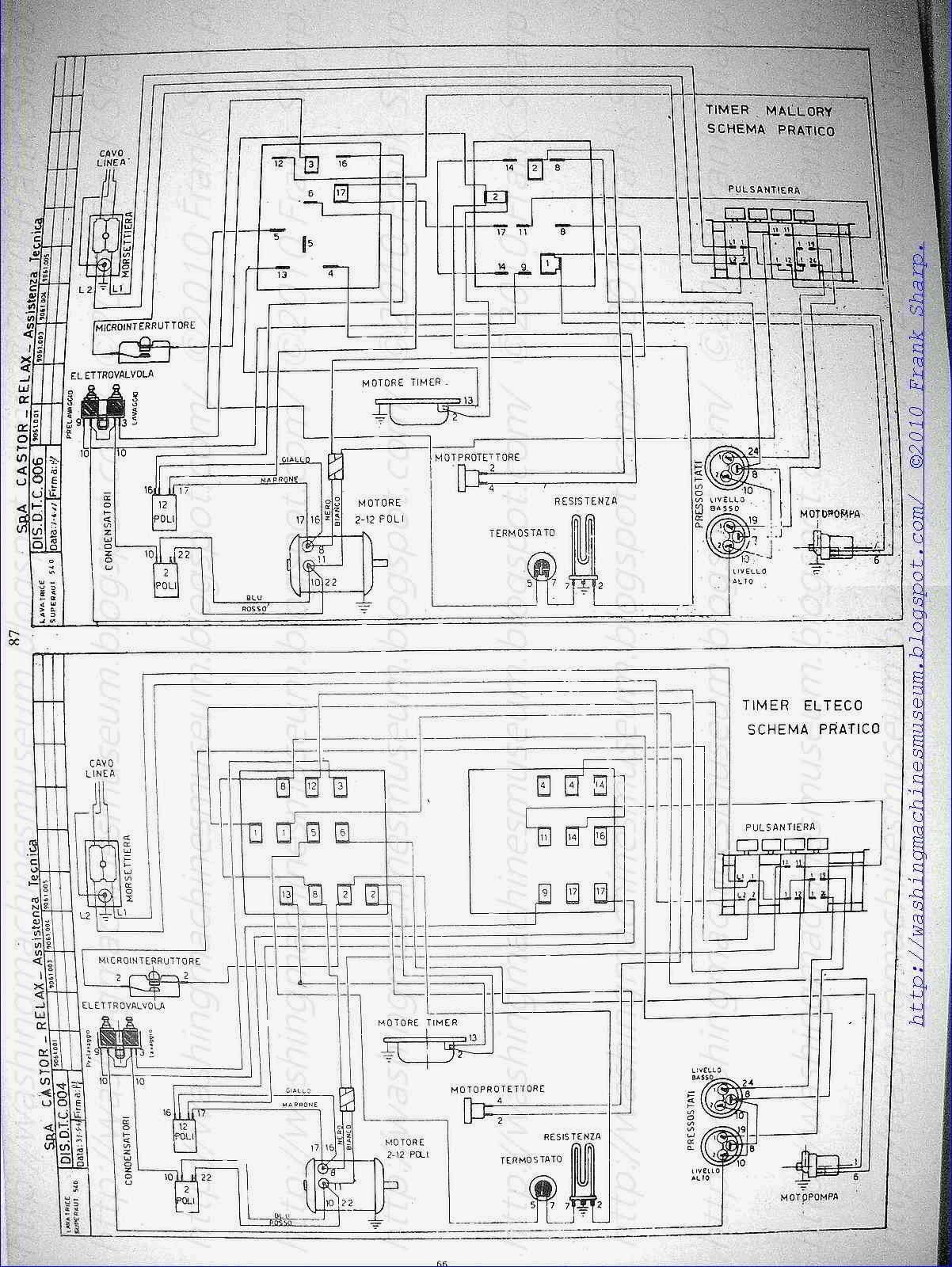 Washer Rama Museum  CASTOR SA 540 SCHEMATIC    DIAGRAM