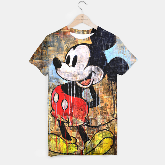 Mickey Mouse tshirt by Loui Jover at Live Heroes