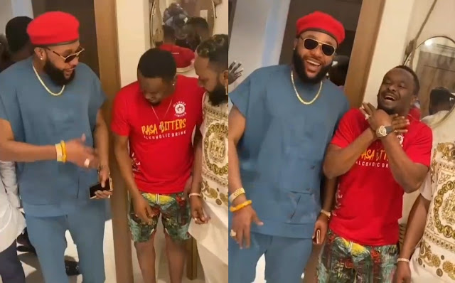 E Really Choke! Actor Zubby Micheal Gifts Kcee ₦1 Million