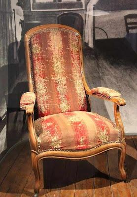 Santa Bernadette morreu sentada nesta poltrona, museu de St-Gildard, Nevers