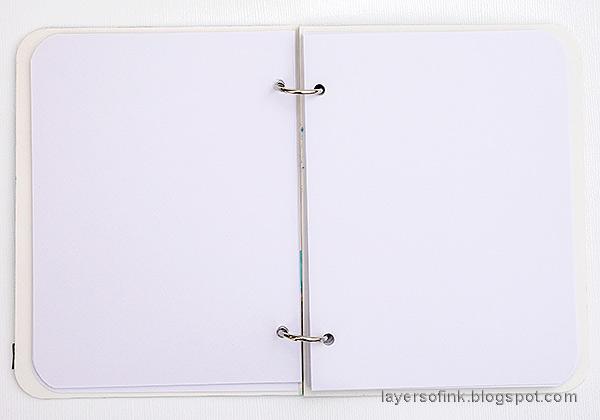 Layers of ink - Glittery Alphabet Notebook Tutorial by Anna-Karin Evaldsson.