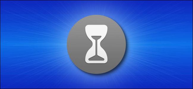 Mac ScreenTime Icon Hero - رمادي على أزرق