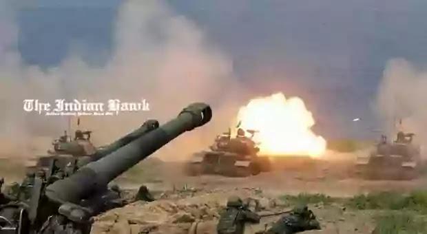A CM-11 Brave Tiger tank fires