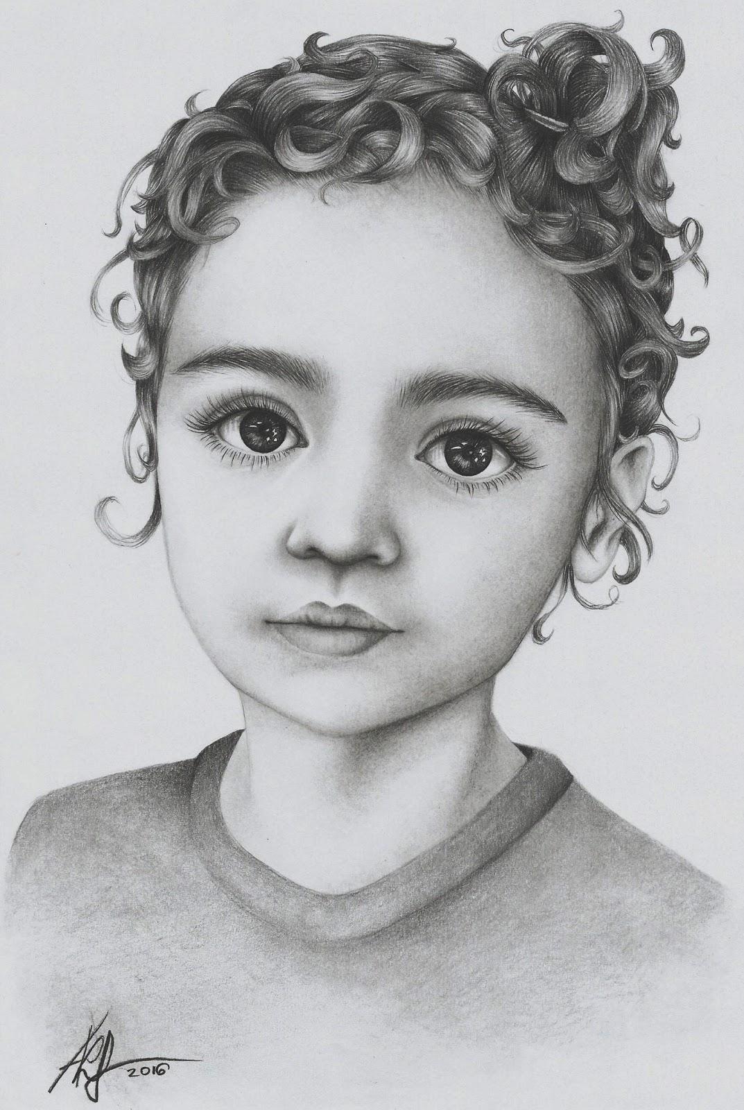 Portrety I Rysunki Portret Ołówkiem Krok Po Kroku