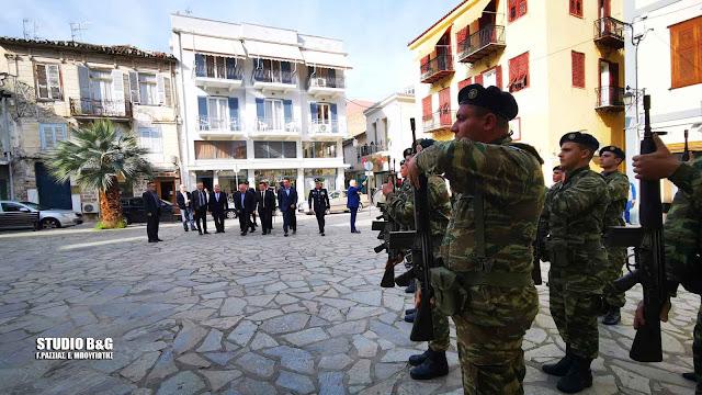 Δοξολογία και κατάθεση στεφάνων στο Ναύπλιο για την Ημέρα των Ενόπλων Δυνάμεων (βίντεο)