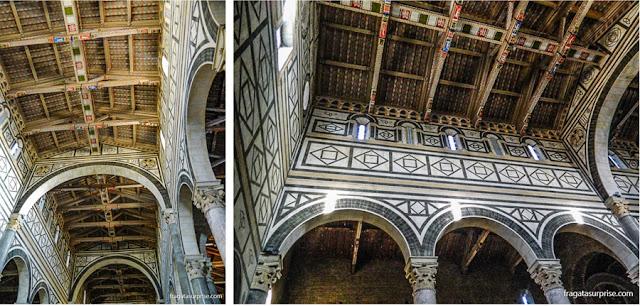Decoração interna da Igreja de San Miniato al Monte, em Florença
