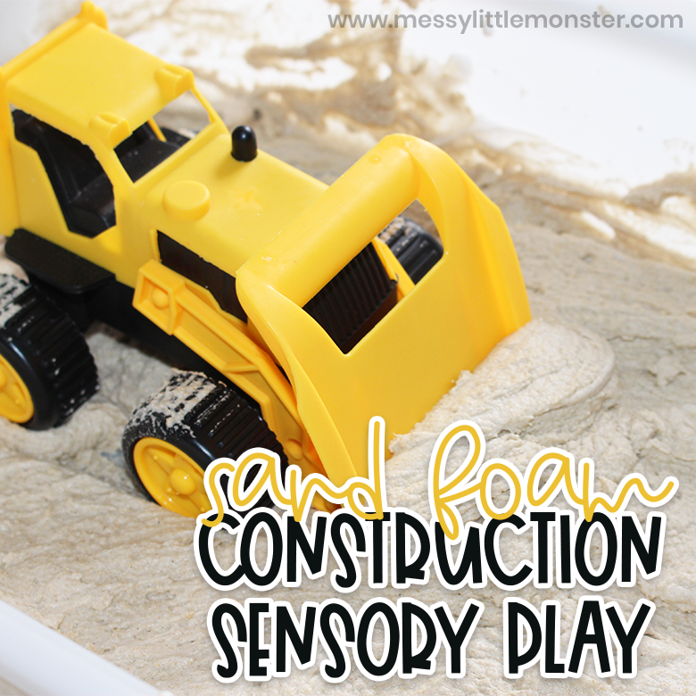 Sand foam construction sensory play