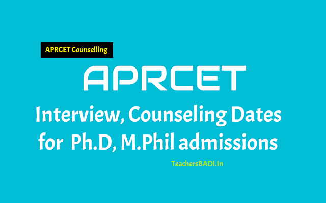 aprcet 2018 interview,counseling dates for ph.d,m.phil admissions,aprcet ph.d m.phil 2018 interview or counseling dates,list of documents for aprcet counselling,aprcet results